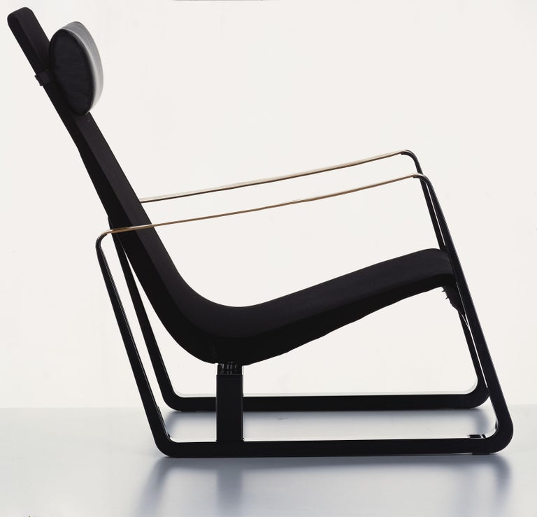 Swiss Vitra Cité Armchair in Black Upholstery by Jean Prouvé For Sale