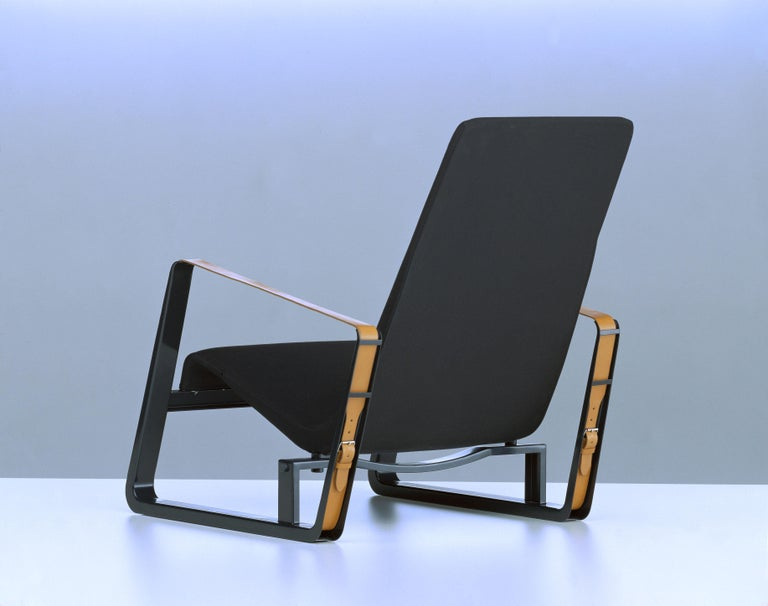 Vitra Cité Armchair in Black Upholstery by Jean Prouvé In New Condition For Sale In New York, NY