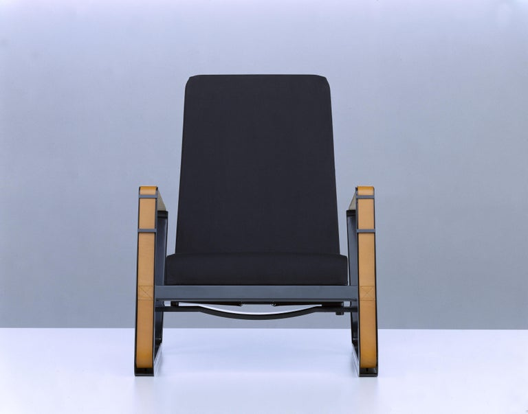Contemporary Vitra Cité Armchair in Black Upholstery by Jean Prouvé For Sale