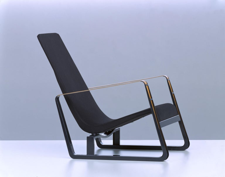 Steel Vitra Cité Armchair in Black Upholstery by Jean Prouvé For Sale