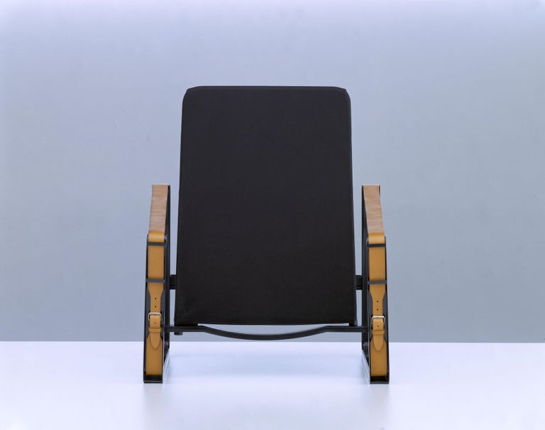 Vitra Cité Armchair in Black Upholstery by Jean Prouvé For Sale 1