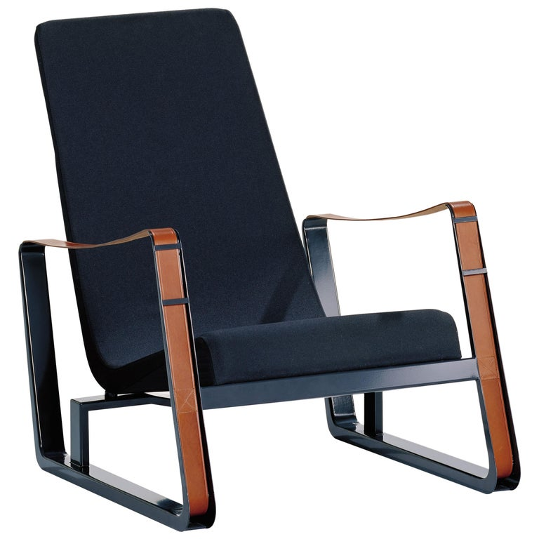 Vitra Cité Armchair in Black Upholstery by Jean Prouvé For Sale