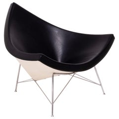 Vitra Coconut Chair by George Nelson in Black Leather, 2003
