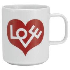 Vitra Coffee Mug in Love Heart 'Crimson' by Alexander Girard