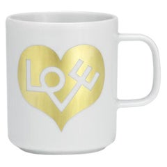Vitra Coffee Mug in Love Heart 'Gold' by Alexander Girard