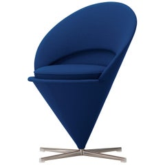 Vitra Cone Chair in Dark Blue by Verner Panton