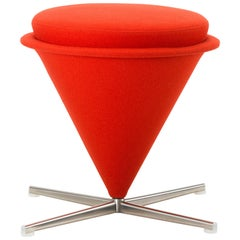 Vitra Cone Stool in Dark Orange by Verner Panton