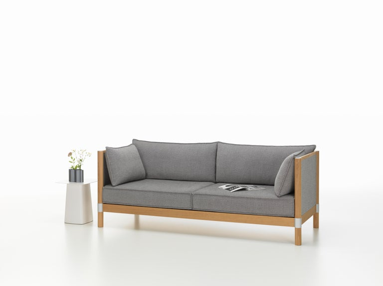 Vitra Cyl Fabric Sofa In Sierra Grey Plano By Ronan And Erwan