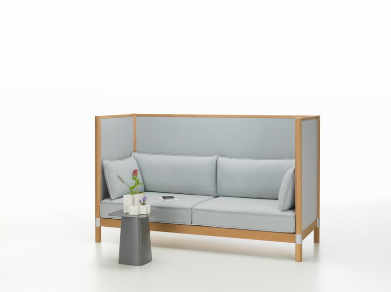 Contemporary Vitra Cyl Highback Fabric Sofa in Blue & Ivory Laser by Ronan & Erwan Bouroullec For Sale