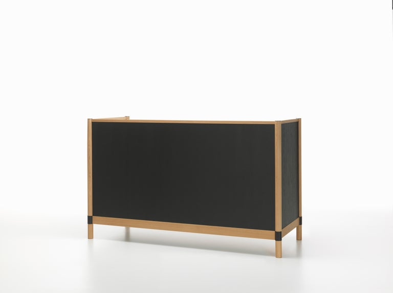 Vitra Cyl Highback Sofa in Dark Oak and Nero Plano by Ronan & Erwan Bouroullec 3
