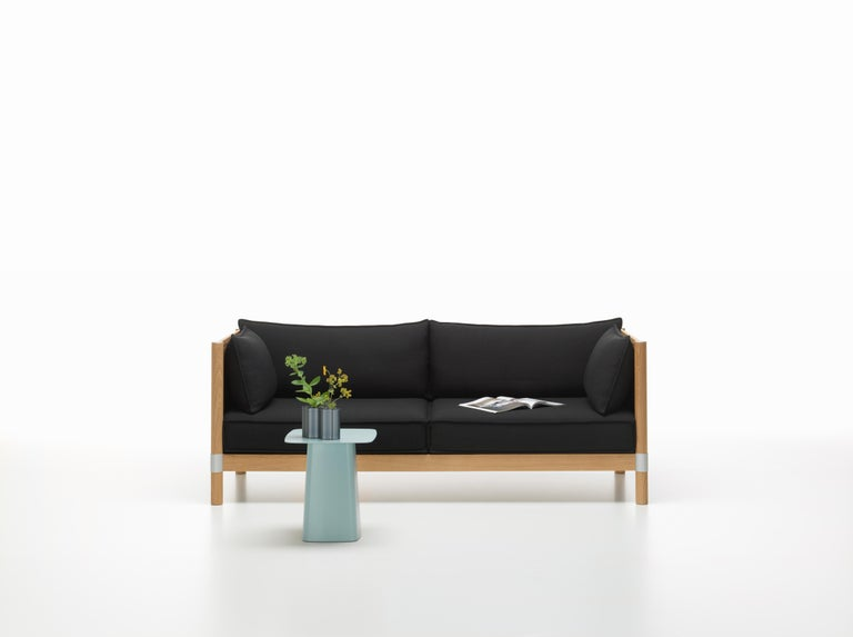 Vitra Cyl Sofa Wood In Black And Anthracite Credo By Ronan And Erwan