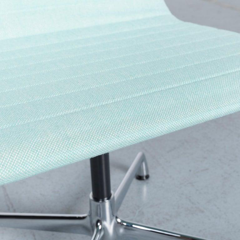 Swiss Vitra EA 101 Designer Fabric Chair Light Green Chrome