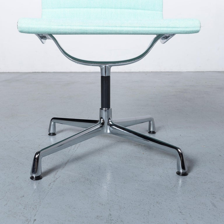 Vitra EA 101 Designer Fabric Chair Light Green Chrome In Good Condition In Cologne, DE