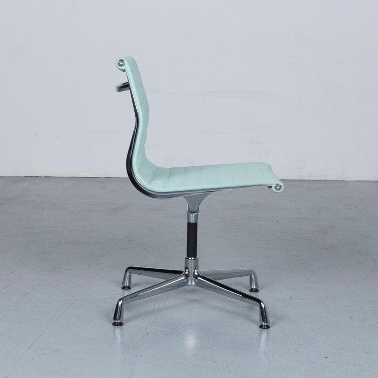 Vitra EA 101 Designer Fabric Chair Light Green Chrome 1
