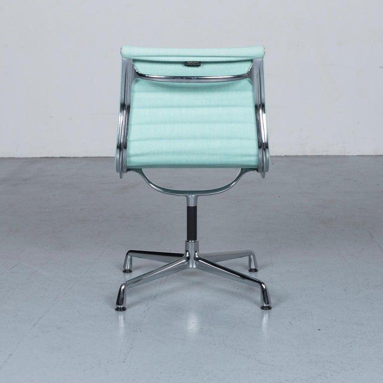 Vitra EA 101 Designer Fabric Chair Light Green Chrome 2