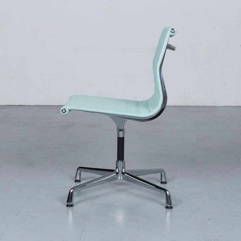 Vitra EA 101 Designer Fabric Chair Light Green Chrome 3