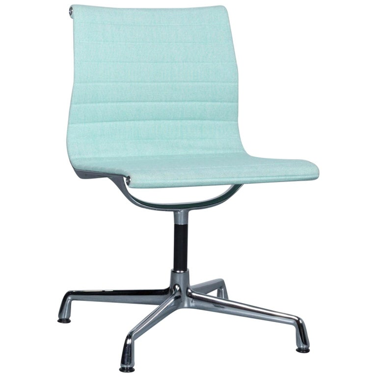 Vitra EA 101 Designer Fabric Chair Light Green Chrome