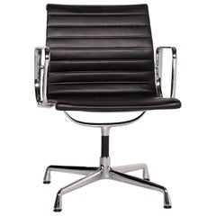 Vitra EA 107 Leather Aluminum Chair Brown Dark Brown