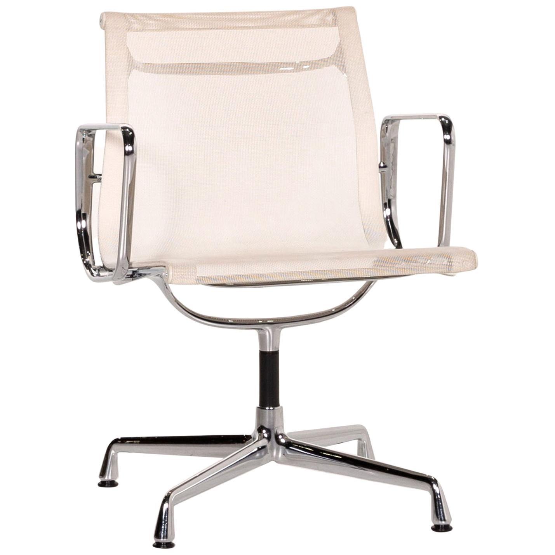 Vitra EA 108 Aluminum Plastic Chair Cream Swivel