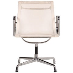 Vitra EA 108 Aluminum Plastic Chair Set Cream 2 Armchairs Swivel