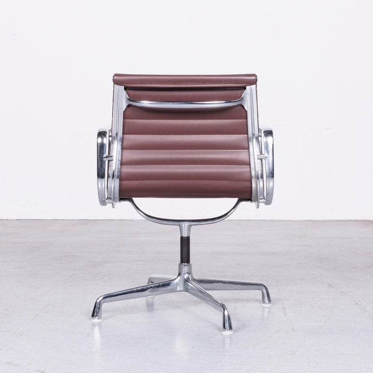 Fabric Vitra EA 108 Designer Leather Chair Brown Chrome