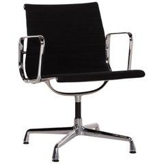 Vitra EA 108 Fabric Aluminum Chair Black Swivel