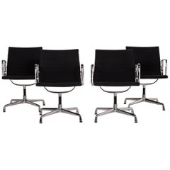 Vitra EA 108 Fabric Aluminum Chair Set Black 4s Chair Swivel
