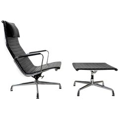 Vitra Eames Alu Group Lounge Set, EA124, EA125, 1980s