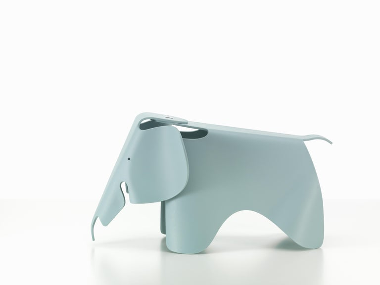 These items are currently only available in the United States.  Charles and Ray Eames developed a toy elephant made of plywood in 1945. Manufactured in plastic, the Eames Elephant can now be enjoyed by the target group for which it was originally