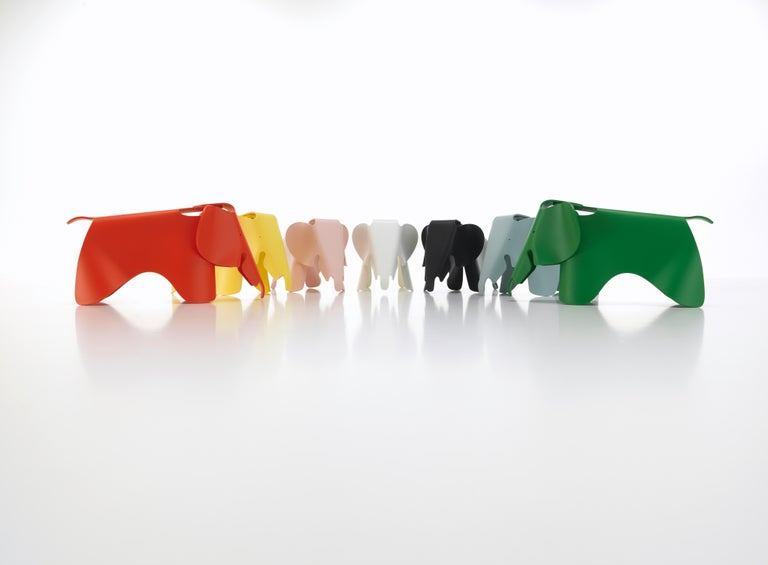 Swiss Vitra Eames Elephant in Ice Grey by Charles & Ray Eames For Sale