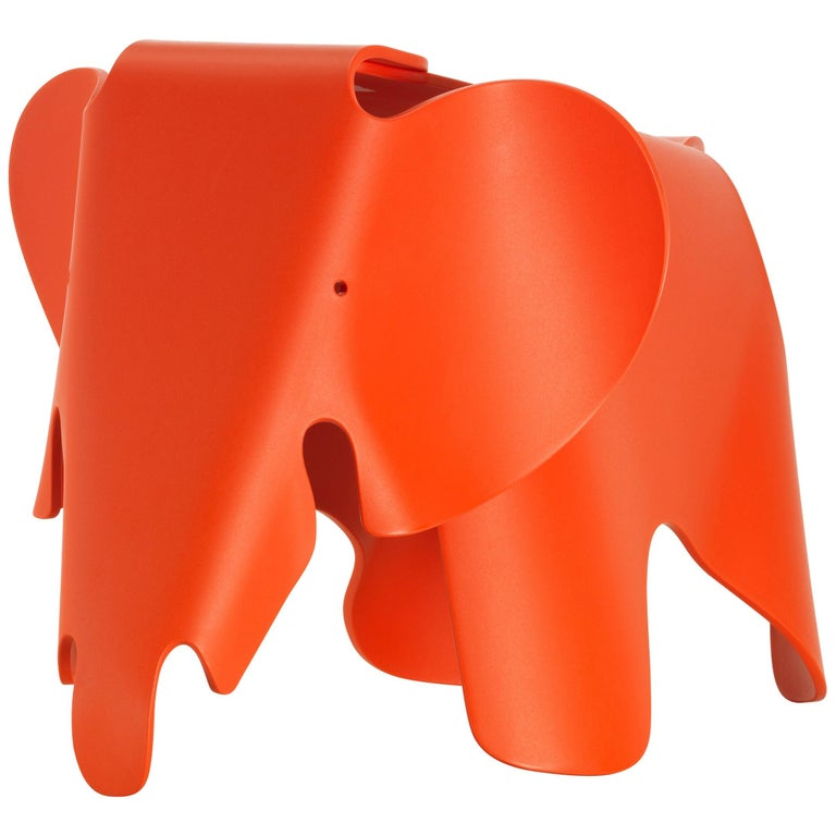 Vitra Eames Elephant in Poppy Red by Charles & Ray Eames For Sale