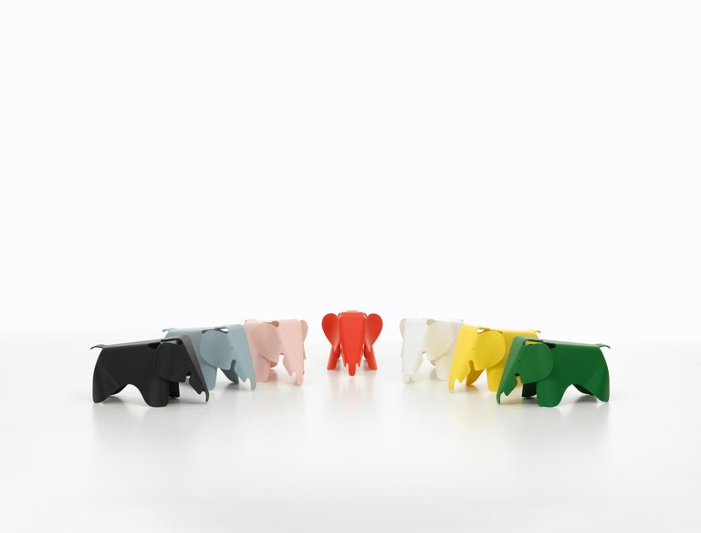 Plastic Vitra Eames Elephant in White by Charles & Ray Eames For Sale