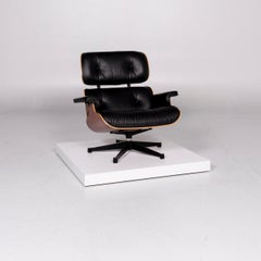 Vitra Eames Lounge Chair Leather Armchair Black Charles & Ray Eames Club Chair