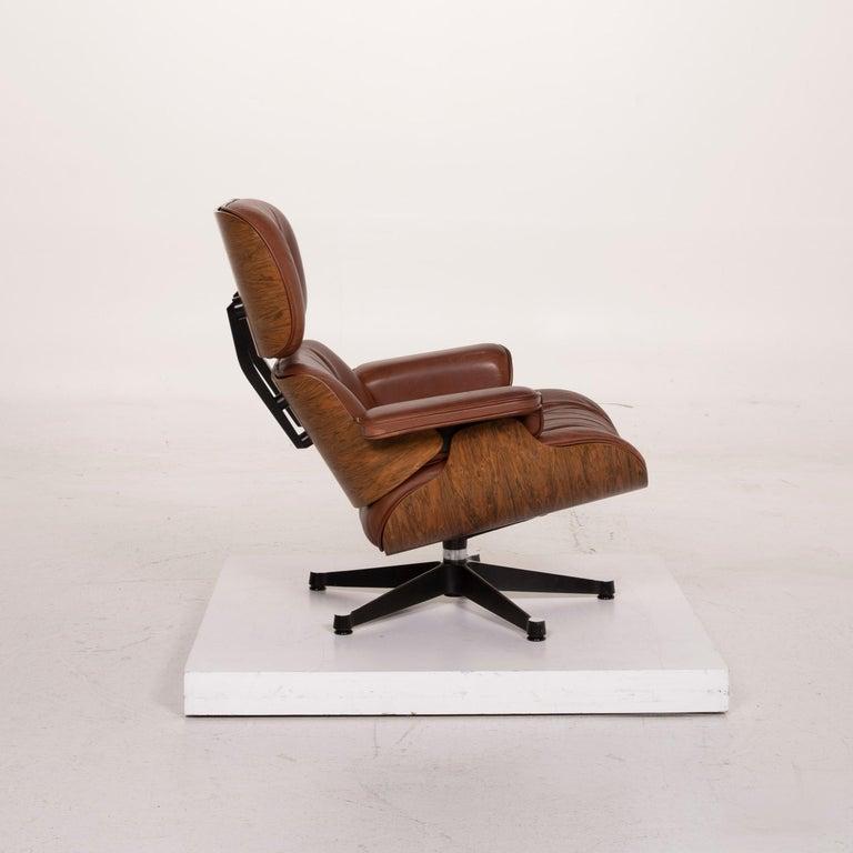 Vitra Eames Lounge Chair Leather Armchair Cognac 4
