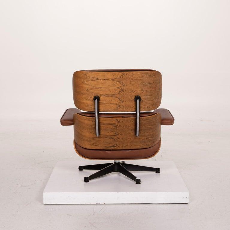 Vitra Eames Lounge Chair Leather Armchair Cognac 5