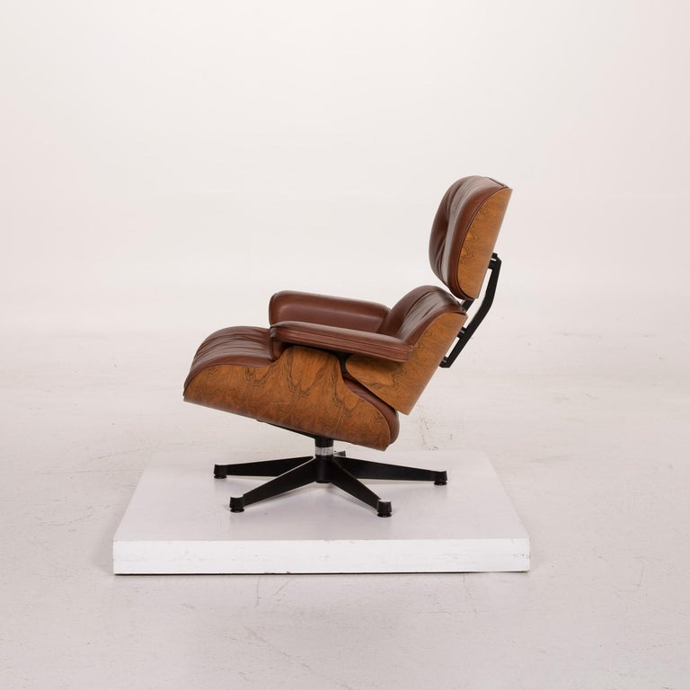 Vitra Eames Lounge Chair Leather Armchair Cognac 6