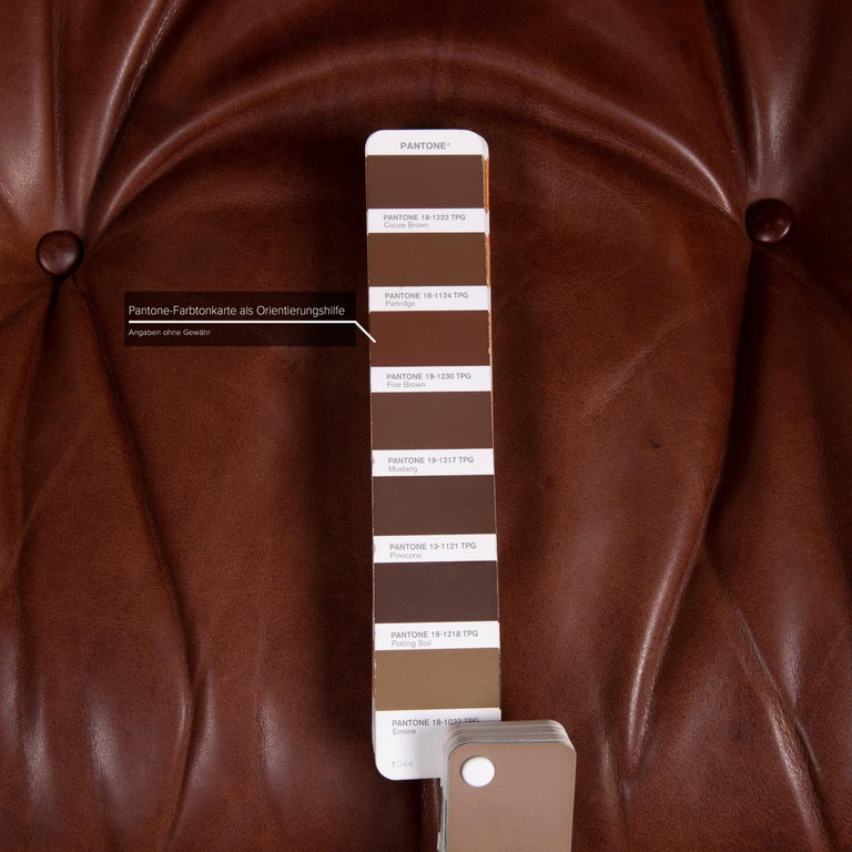 Contemporary Vitra Eames Lounge Chair Leather Armchair Cognac