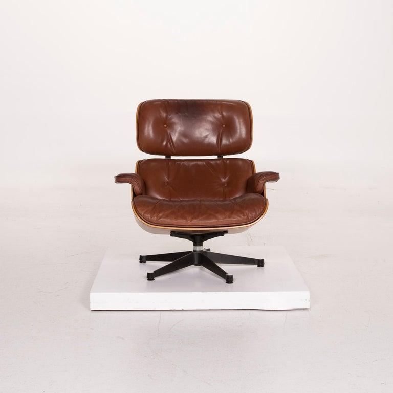 Vitra Eames Lounge Chair Leather Armchair Cognac 2