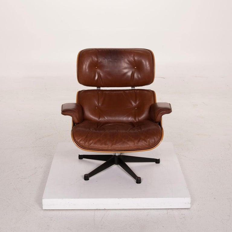 Vitra Eames Lounge Chair Leather Armchair Cognac 3