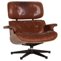 Vitra Eames Lounge Chair Leather Armchair Cognac