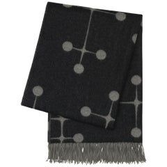 Vitra Eames Wool Blanket in Black and Gray by Charles & Ray Eames