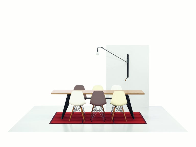Swiss Vitra EM Table in Ivory HPL and Deep Black by Jean Prouvé For Sale