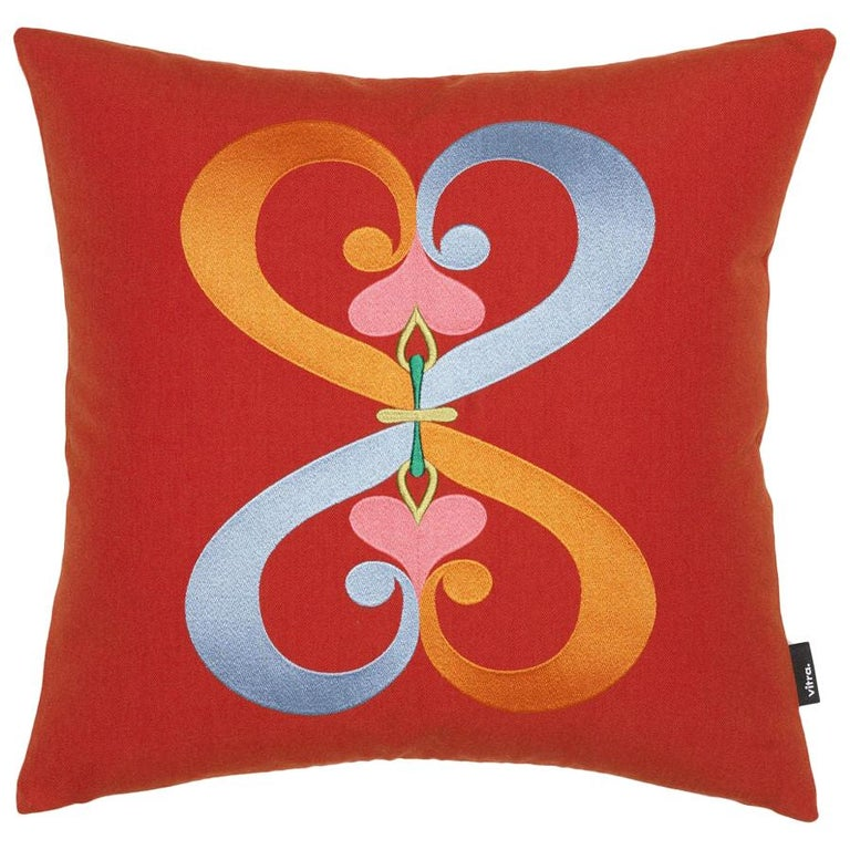 Vitra Embroidered Double Heart Pillow by Alexander Girard  For Sale