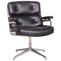 Vitra ES 108 Designer Leather Premium Armchair Black by Charles Eames Genuine