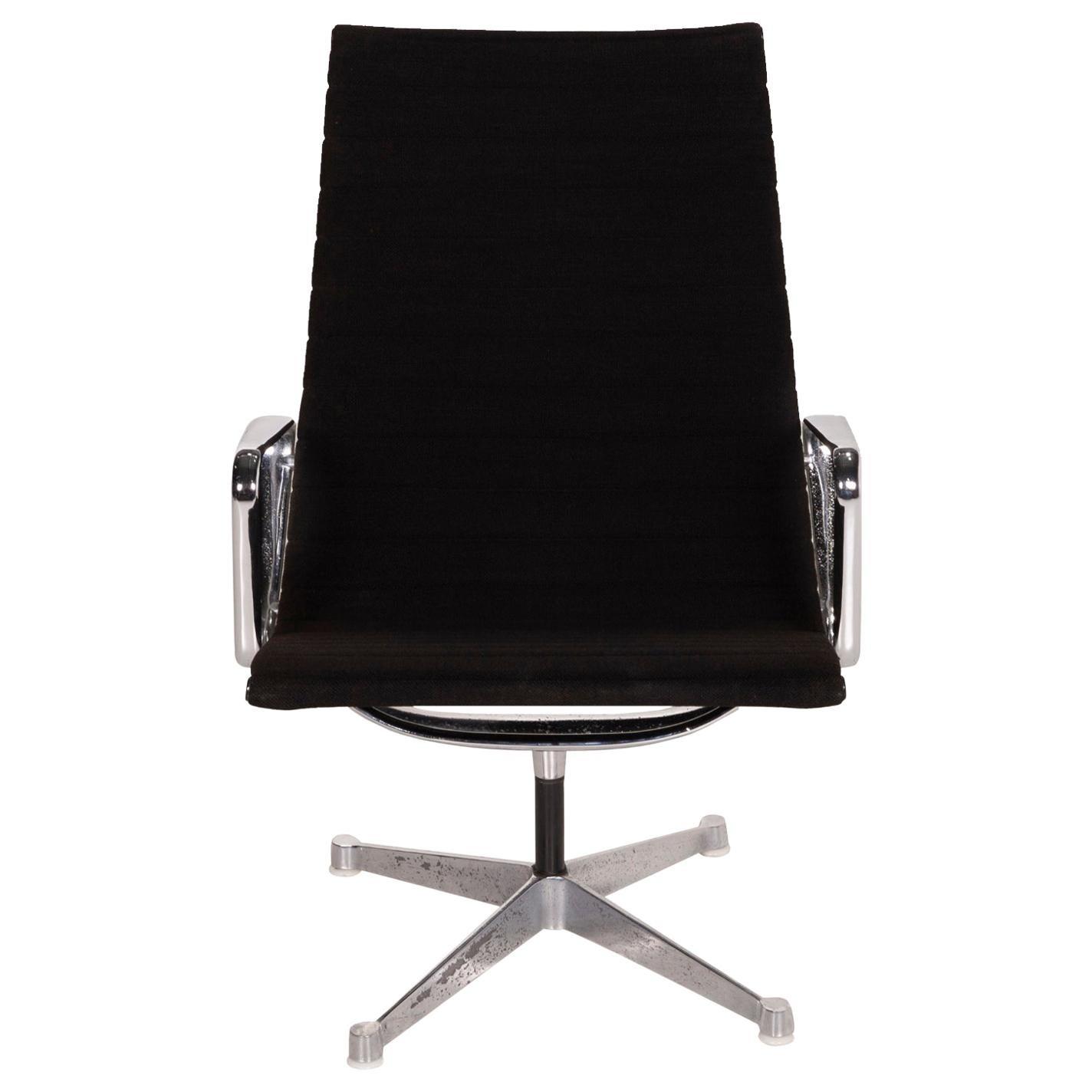 Vitra Fabric Armchair Black Hermann Miller Aluminum Chair