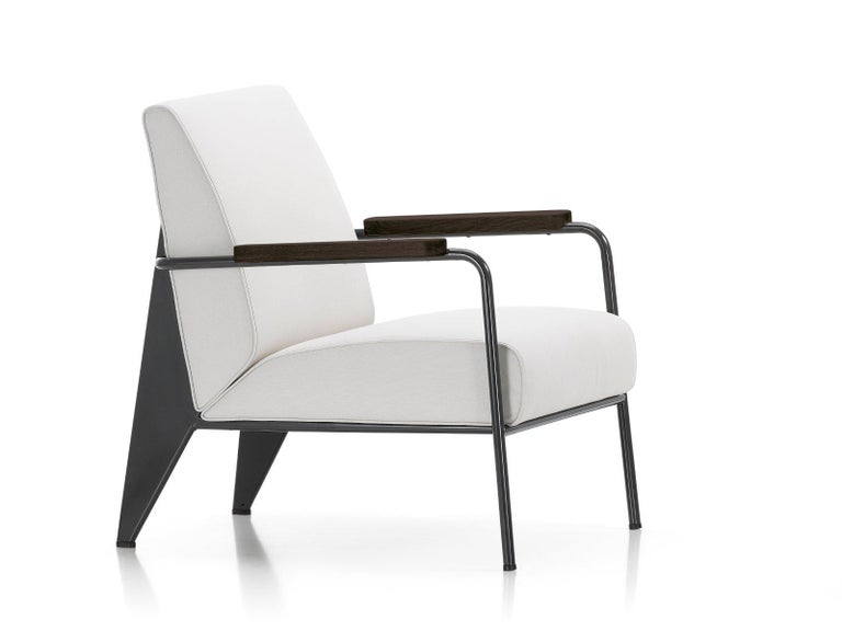 Vitra Fauteuil De Salon Armchair in Black by Jean Prouvé In New Condition For Sale In Glendale, CA