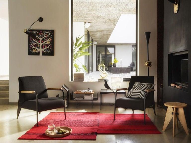 Contemporary Vitra Fauteuil De Salon Armchair in Black by Jean Prouvé For Sale