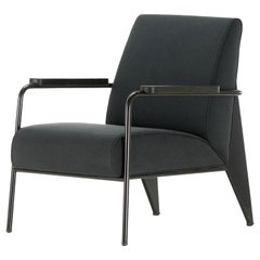 Vitra Fauteuil De Salon Armchair in Black by Jean Prouvé