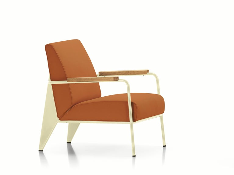 These items are currently only available in the United States.  Developed by Jean Prouvé, the Fauteuil de Salon is a typical example of the distinctive structural aesthetic of his designs. The armchair's understated character suits a wide variety of