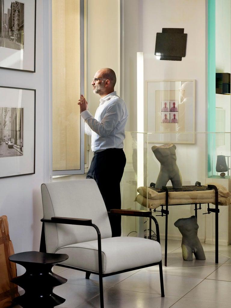 Modern Vitra Fauteuil de Salon Armchair in Cognac with Ecru Base by Jean Prouvé For Sale